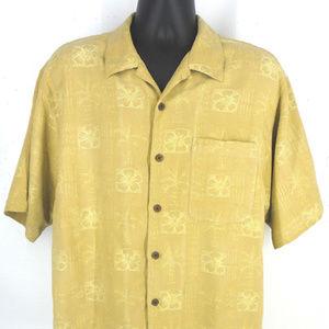 TOMMY BAHAMA Hawaiian Men's S/S Silk Shirt Size L